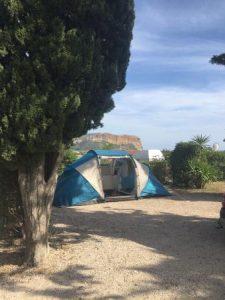 Camping les Cigales à Cassis emplacement tente